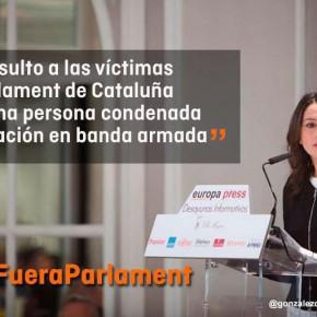 Ciudadanos muestra su repulsa por la visita de Otegi al Parlament de Cataluña