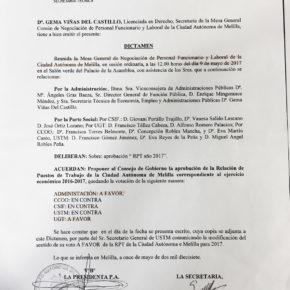 Aclaraciones a la viceconsejera de Administraciones Públicas sobre el proceder fraudulento del Gobierno en torno a la RPT