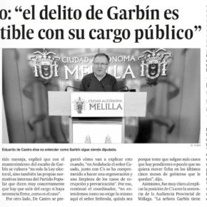 La renuncia de Garbín deja en evidencia la falta de voluntad de Imbroda para regenerar la política en su partido